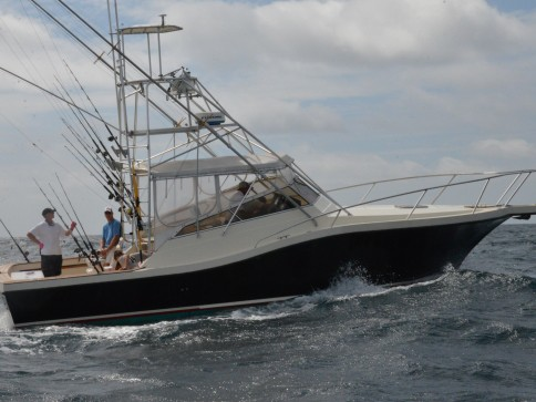 Our Amelia Island Offshore Fishing Charter Boat, the Pipe Dream III