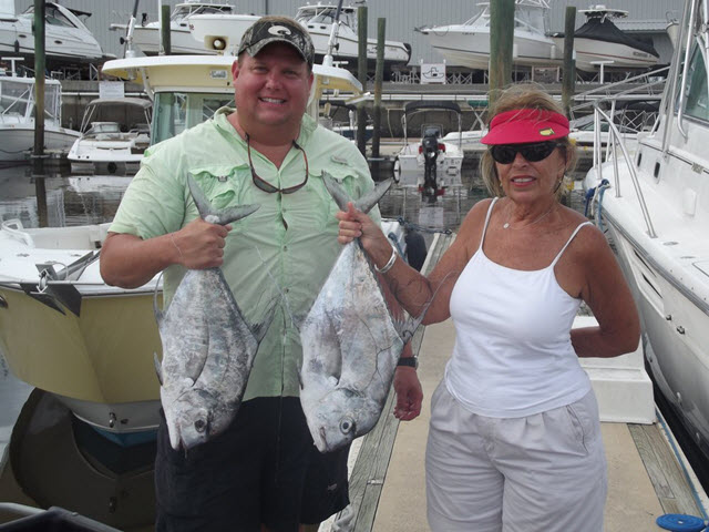 African Pompano caught on Amelia Island Offshore Fishing trip